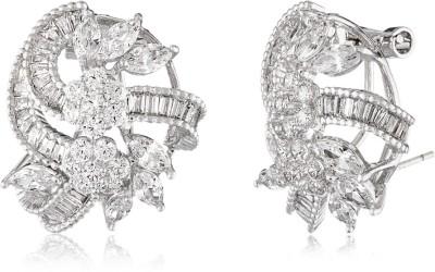 Shaze Majestic Brass Stud Earring
