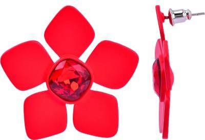 Maisha Radient red. Alloy Stud Earring