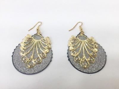 Arkina Diamonds The bling earring Brass Dangle Earring