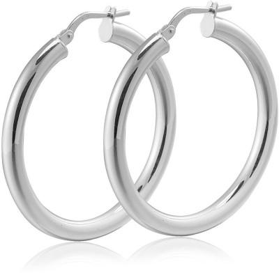 Chandrika Pearls Modern Metal Hoop Earring