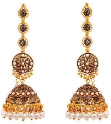 Vanity Roots Royal Sheen Alloy Jhumki Earring