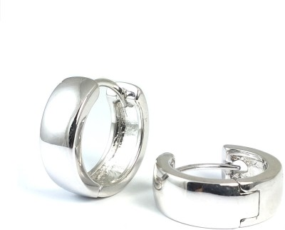 Ammvi Semi-Flat Surface Bollywood Style 316L for Men Stainless Steel Huggie Earring