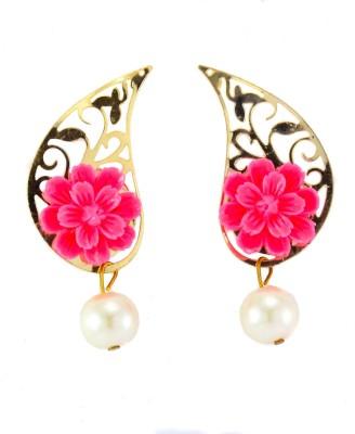 imillery imillery pink rose drop Alloy Drop Earring