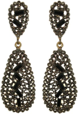 000 Fashions Glamorous Antique Black stone Crystal Alloy Drop Earring