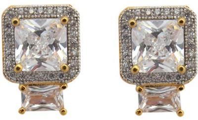 Fashionage Delight Brass Stud Earring