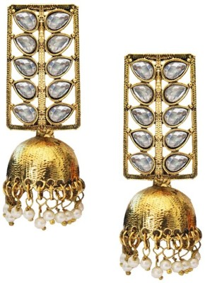 Beingwomen Elegant Gold Plated Kundan Studded Fashion Alloy Jhumki Earring