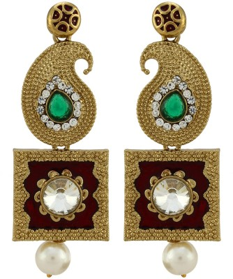 Asmara Royal Tasteful Paisley Alloy Drop Earring