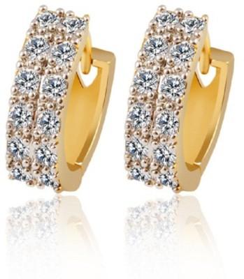 Stile HoopER Cubic Zirconia Crystal Hoop Earring