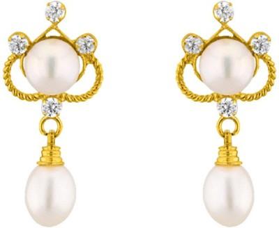 JPearls Trendy Pearl Alloy Drop Earring