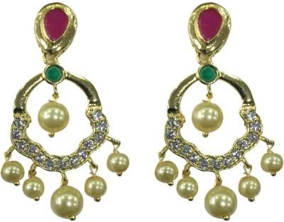 Sri Kapi Pearls FE137 Cubic Zirconia Alloy Chandbali Earring