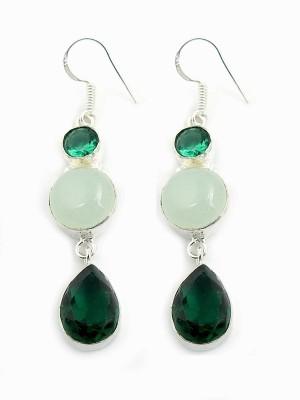 Miska Silver GERCC15-3240 Onyx Nickel Dangle Earring