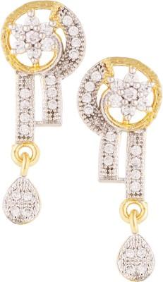 Fashionaya Diamond Math Cubic Zirconia Alloy Drop Earring