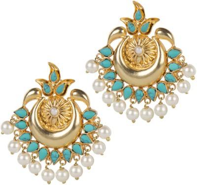 Mehtaphor Neysa_4 Crystal Brass Chandbali Earring