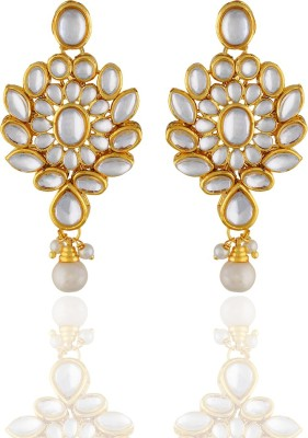 One Stop Fashion Graceful Designer Gold Plated Alloy Earrings Alloy Drop Earring