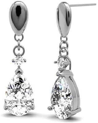 JDX Swara Swarovski Crystal Silver Drop Earring