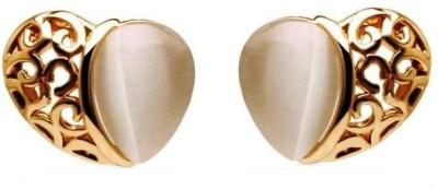 Roma Brothers Hollowheartopal Opal Alloy Stud Earring