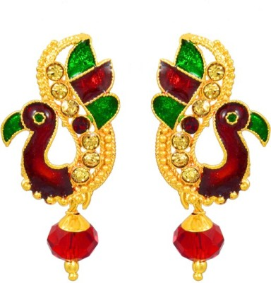 AAHAAN RETAILS Peacock Style Alloy Dangle Earring