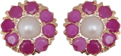 Janki Jewellers Unique Fashion Cubic Zirconia Alloy Stud Earring