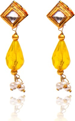 Ratnakar Simple Top Stude Copper Drop Earring