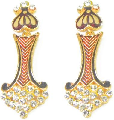 Glamche Meenakari Cubic Zirconia Alloy Chandelier Earring