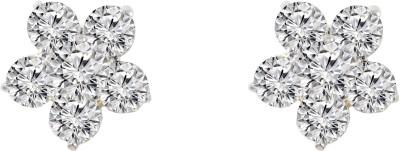 Jewelskaro Latest Designer American Diamond ear tops design Brass Stud Earring