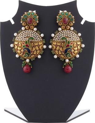 Aaina Home Decor Cubic Zirconia Copper Dangle Earring