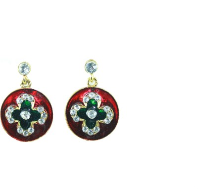 Vanity Roots Colourful Crystal Alloy Drop Earring