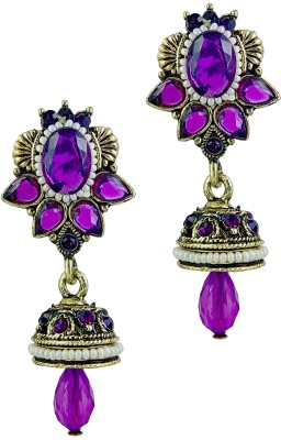 YUVEN Clear Shining Pretty Crystal Brass, Alloy Drop Earring