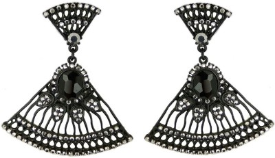000 Fashions Black Traditional Antique Gold Crystal Alloy Drop Earring