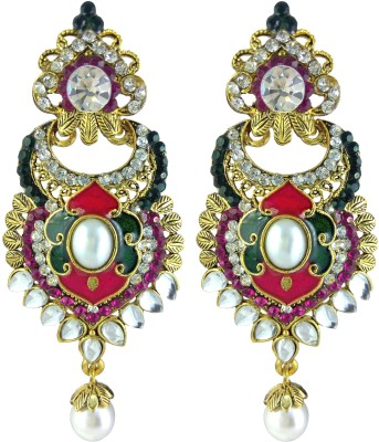 YUVEN Multi-Color Zircon Brass, Alloy Drop Earring