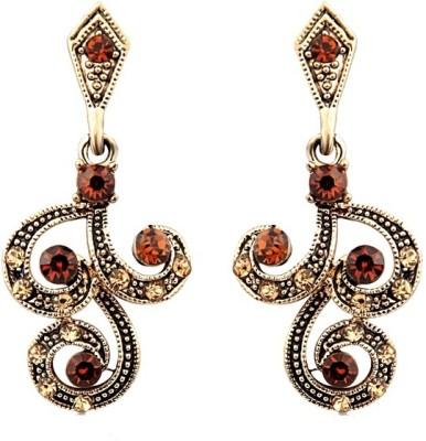 Just Women Wavy Traditional Crystal Alloy Drop Earring