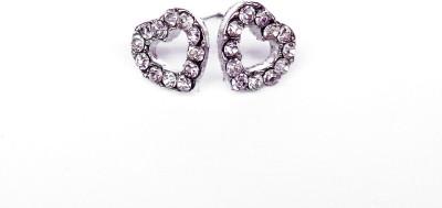 Kundaan Love Shape Crystal Alloy Stud Earring