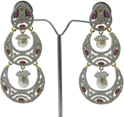 Aakhya EAR20B Diamond Rose Gold Drop Earring