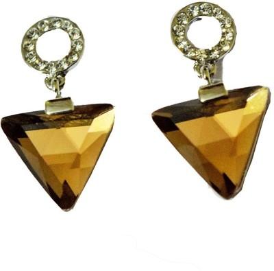 Mrinalini Triangular Alloy Drop Earring