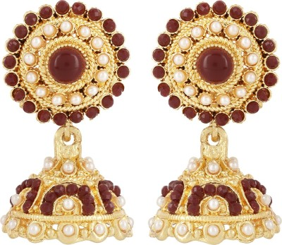 SHRIJEECREATIONS Circular Alloy Drop Earring