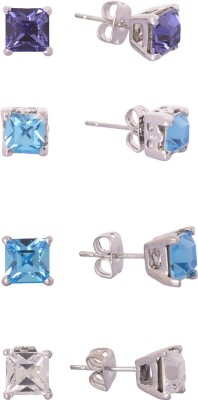 Kuhuk sparkling dots Cubic Zirconia Alloy Stud Earring