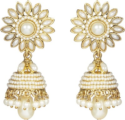CTW Traditional Elegant Golden Alloy Jhumki Earring at flipkart