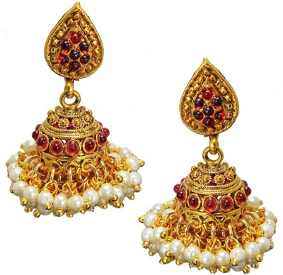 Satyam Jewellery Nx Pearl Jhumka Copper Jhumki Earring