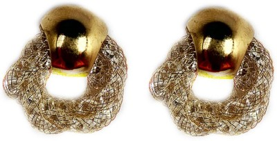 000 Fashions Golden Air Bamp Studs Crystal Alloy Stud Earring