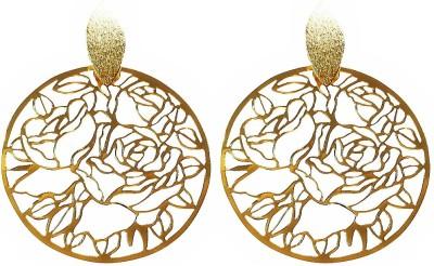 Blingxing Golden Rose Metal, Alloy Drop Earring