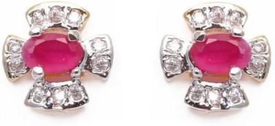 Vanshikajewels Beautiful Red Alloy Stud Earring