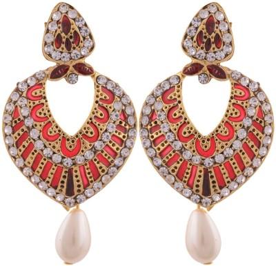 Grandiose Meenakari Copper Drop Earring