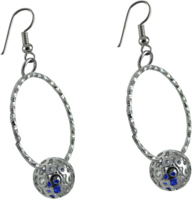 My Sara Earing White Color For Girls Cubic Zirconia Copper, Brass Dangle Earring