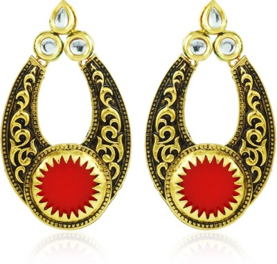 BoBell Indian Fusion Vintage Copper Chandbali Earring