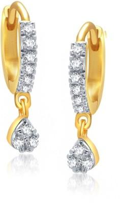 Jewels Guru Just Like Diamond Cubic Zirconia Brass Hoop Earring