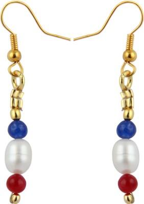 Pearlz Ocean Opulent Pearl, Jade Alloy Dangle Earring