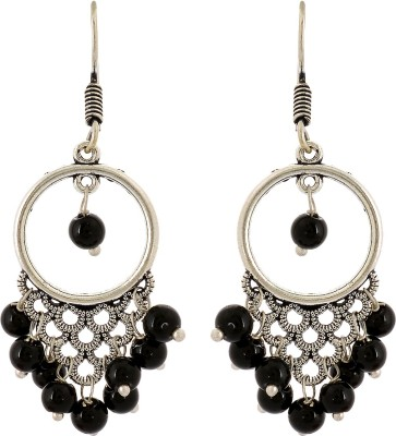 Subharpit Circle of Life Beads Metal Dangle Earring