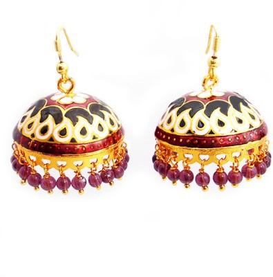 MK Jewellers Designer Tokri Beads Brass Jhumki Earring