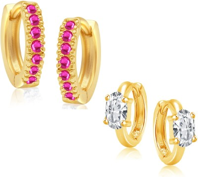 VK Jewels Charming Combo Cubic Zirconia Alloy Earring Set