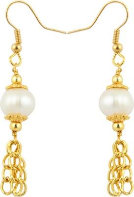 Pearlz Ocean Magical Pearl Alloy Dangle Earring